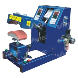 China Pneumatic Digital Cap Heat Pressing Machine For 150x60 MM Plate distributor