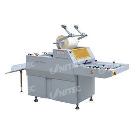 China Semi - Automatic Roll Laminator Machine , Single Sided Heated Roll Laminator With Separator SFML-520 factory