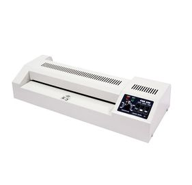 China Hot and cold lamination, easy operation, 4 rollers heating lamp pouch laminator distributor